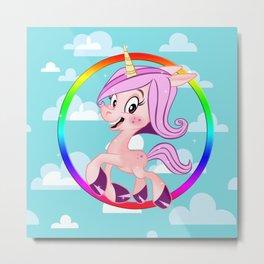 Suzi the happy unicorn Metal Print