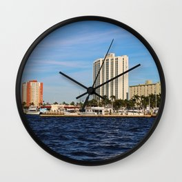 Fort Myers Yacht Basin Wall Clock