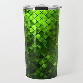 Metallic Green Pattern Travel Mug