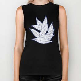 SUMMERTIME (Leaves on blue) Biker Tank