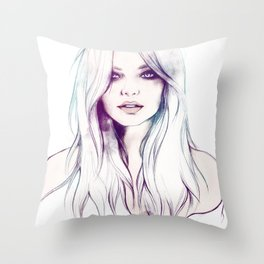 Miranda Kerr Throw Pillow