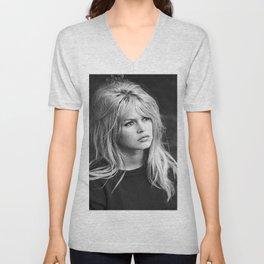 Brigitte Bardot Retro Vintage Art Unisex V-Neck