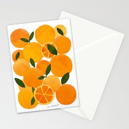 mediterranean oranges still life  Stationery Cards