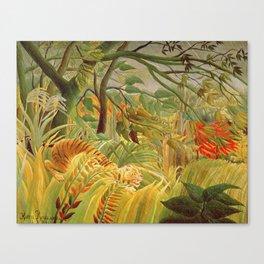 Henri Rousseau - Tiger In A Tropical Storm Canvas Print