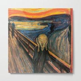 "Edvard Munch, "" The Scream "" Metal Print"
