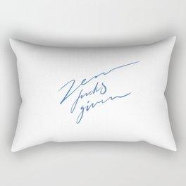 Zero fucks given Rectangular Pillow