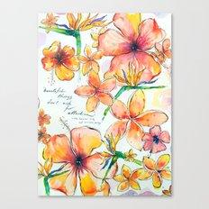 Beautiful tropical things Canvas Print