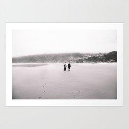 A Walk in the Sand Art Print