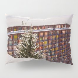 Mountain architecture colorful Pillow Sham