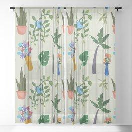 Green at home Sheer Curtain