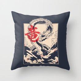 Japanese Sea Dragon Throw Pillow