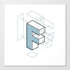 The Exploded Alphabet / F Canvas Print