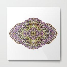 purple ornament Metal Print