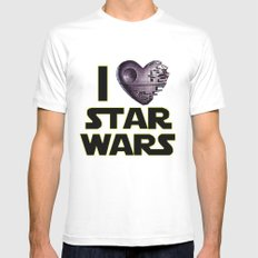Love Star Wars  Mens Fitted Tee White MEDIUM
