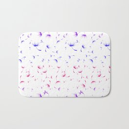 Dandelion Seeds Bisexual Pride (white background) Bath Mat