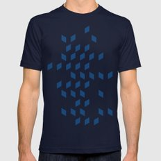 rhombus bomb in monaco blue 2X-LARGE Mens Fitted Tee Navy