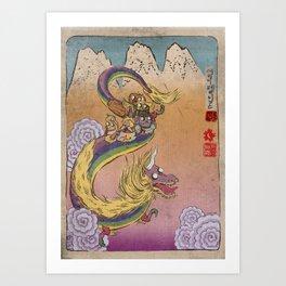 Lady Rainicorn Art Print