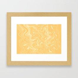 Yellow Liquid Marble Framed Art Print