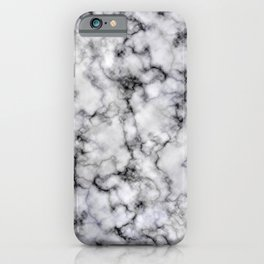 Grey and Black Veined Faux Marble Repeat iPhone Case