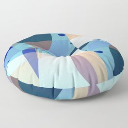 Abstract Fractal Art - Quistere- Cubism- Picasso Art Floor Pillow