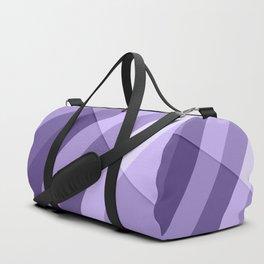 Ultra violet purple modern geometric lines Duffle Bag