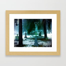 Cemetary Framed Art Print