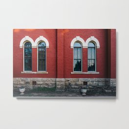 Double Windows Metal Print
