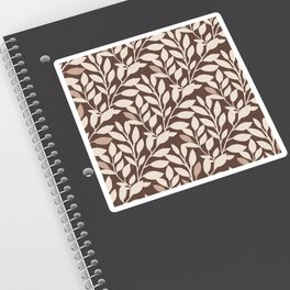 Leaves and Branches in Cream and Brown Sticker