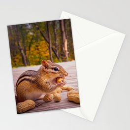 Two Chipmunk In A Peanut eating contest Stationery Cards