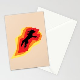 Fire Wolf Stationery Cards