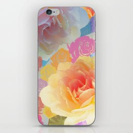 Artistic roses, patterns and textures iPhone Skin