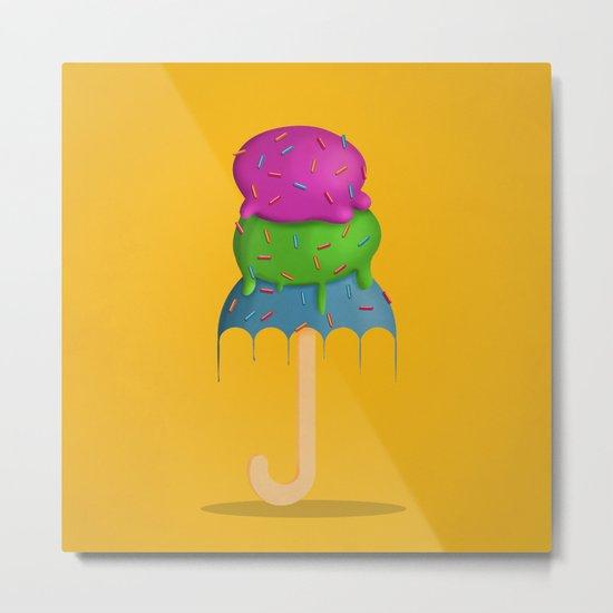 ice cream rain Metal Print