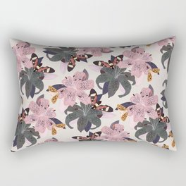 Lilies and butterflies insects Rectangular Pillow