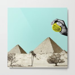 Lemon pyramid Metal Print