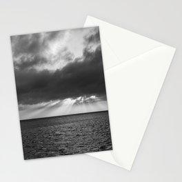Laguna Madre Sunset #blackwhite Stationery Cards