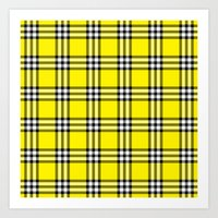 clueless Art Prints featuring As If Plaid by Kat Mun
