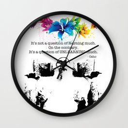 """Unlearn Everything"" Wall Clock"