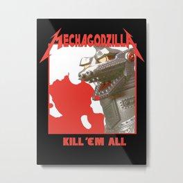 MechaZilla Metal Print