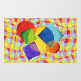 Candy Rainbow Circus Plaid Rug