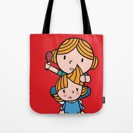mom & daughter Tote Bag