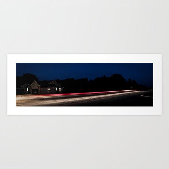 Midnight Blur Art Print