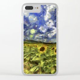 Summer Sunflowers Van Gogh Clear iPhone Case
