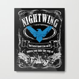 NIGTWING label whiskey style Metal Print