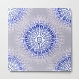 Lavender Blue Boho Mandala Metal Print