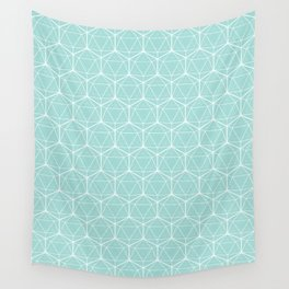 Icosahedron Seafoam Wall Tapestry