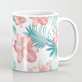 Tropical Flowers Palm Leaves Finesse #2 #tropical #decor #art #society6 Coffee Mug