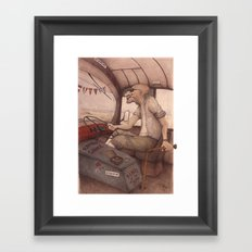 The King of the Road Framed Art Print