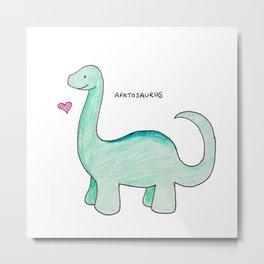 Apatosaurus Dinosaur Metal Print