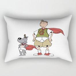 Doug Quail Man Rectangular Pillow