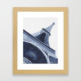 Bleu Eiffel Tower Framed Art Print